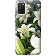 Чехол на Samsung Galaxy A02s A025F Белые лилии