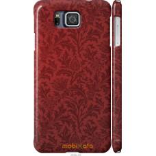 Чехол на Samsung Galaxy Alpha G850F Чехол цвета бордо