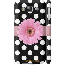 Чехол на Samsung Galaxy E5 E500H Цветочек горошек v2