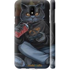 Чехол на Samsung Galaxy J4 2018 gamer cat