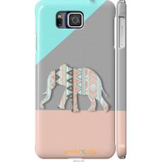 Чехол на Samsung Galaxy Alpha G850F Узорчатый слон