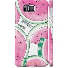 Чехол на Samsung Galaxy Alpha G850F Розовый арбузик