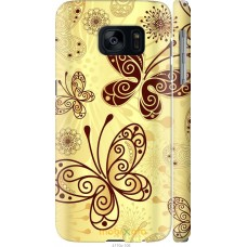 Чехол на Samsung Galaxy S7 G930F Рисованные бабочки