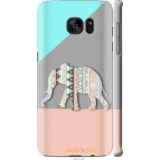 Чехол на Samsung Galaxy S7 Edge G935F Узорчатый слон