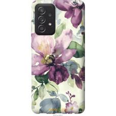 Чехол на Samsung Galaxy A52 Цветы акварелью