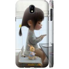 Чехол на Samsung Galaxy J7 J730 (2017) Милая девочка с зайчи