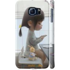 Чехол на Samsung Galaxy S6 G920 Милая девочка с зайчиком