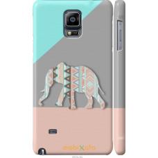 Чехол на Samsung Galaxy Note 4 N910H Узорчатый слон
