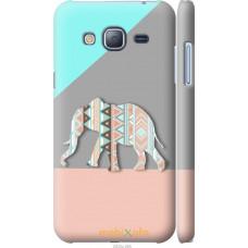 Чехол на Samsung Galaxy J3 Duos (2016) J320H Узорчатый слон