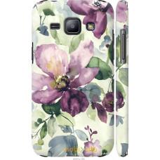 Чехол на Samsung Galaxy J1 J100H Акварель цветы