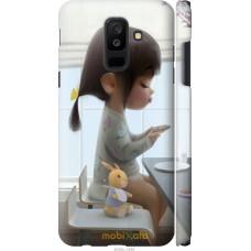 Чехол на Samsung Galaxy A6 Plus 2018 Милая девочка с зайчико