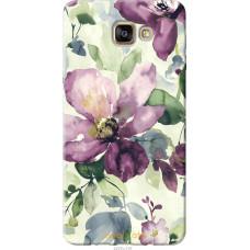 Чехол на Samsung Galaxy A9 Pro Акварель цветы