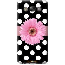 Чехол на Samsung Galaxy E7 E700H Цветочек горошек v2