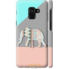 Чехол на Samsung Galaxy A8 2018 A530F Узорчатый слон