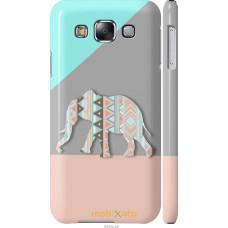 Чехол на Samsung Galaxy E5 E500H Узорчатый слон