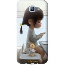 Чехол на Samsung Galaxy A8 (2016) A810 Милая девочка с зайчи