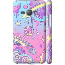 Чехол на Samsung Galaxy J1 (2016) Duos J120H Розовая галакти