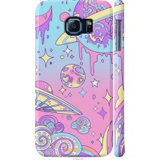Чехол на Samsung Galaxy S6 G920 'Розовый космос