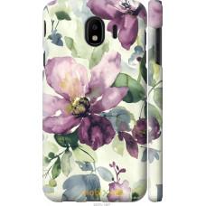 Чехол на Samsung Galaxy J4 2018 Акварель цветы