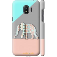 Чехол на Samsung Galaxy J2 2018 Узорчатый слон