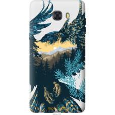 Чехол на Samsung Galaxy C9 Pro Арт-орел на фоне природы