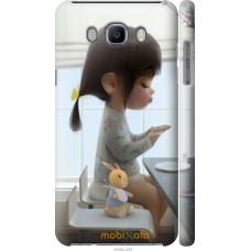 Чехол на Samsung Galaxy J7 (2016) J710F Милая девочка с зайч