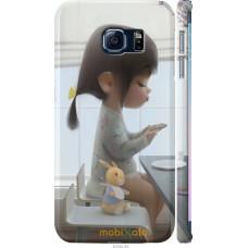 Чехол на Samsung Galaxy S6 Edge G925F Милая девочка с зайчик
