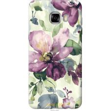 Чехол на Samsung Galaxy C7 C7000 Акварель цветы
