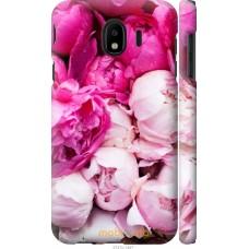 Чехол на Samsung Galaxy J4 2018 Розовые цветы