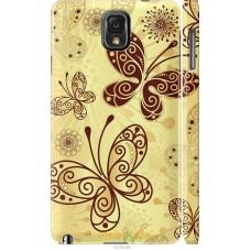 Чехол на Samsung Galaxy Note 3 N9000 Рисованные бабочки