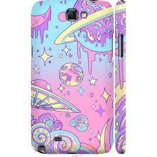 Чехол на Samsung Galaxy Note 2 N7100 'Розовый космос