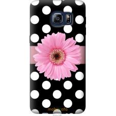 Чехол на Samsung Galaxy S6 Edge Plus G928 Цветочек горошек v