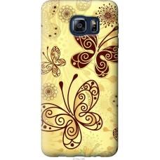Чехол на Samsung Galaxy S6 Edge Plus G928 Рисованные бабочки