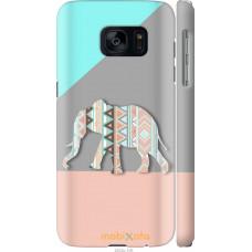 Чехол на Samsung Galaxy S7 G930F Узорчатый слон