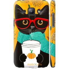 Чехол на Samsung Galaxy J1 J100H Осенний кот