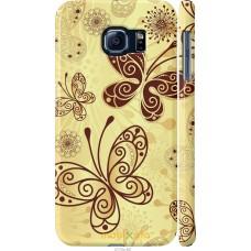 Чехол на Samsung Galaxy S6 G920 Рисованные бабочки