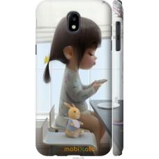 Чехол на Samsung Galaxy J5 J530 (2017) Милая девочка с зайчи
