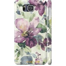 Чехол на Samsung Galaxy Alpha G850F Акварель цветы