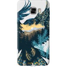 Чехол на Samsung Galaxy C7 C7000 Арт-орел на фоне природы