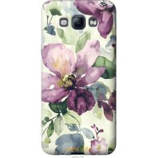 Чехол на Samsung Galaxy A8 A8000 Акварель цветы