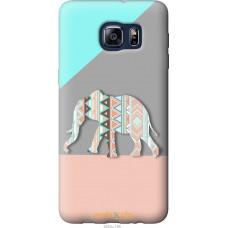 Чехол на Samsung Galaxy S6 Edge Plus G928 Узорчатый слон