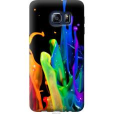 Чехол на Samsung Galaxy S6 Edge Plus G928 брызги краски
