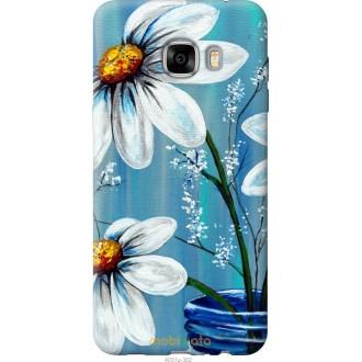 Чехол на Samsung Galaxy C7 C7000 Красивые арт-ромашки