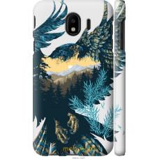 Чехол на Samsung Galaxy J4 2018 Арт-орел на фоне природы