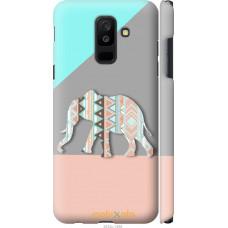 Чехол на Samsung Galaxy A6 Plus 2018 Узорчатый слон