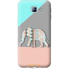 Чехол на Samsung Galaxy A8 (2016) A810 Узорчатый слон
