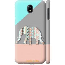 Чехол на Samsung Galaxy J7 J730 (2017) Узорчатый слон