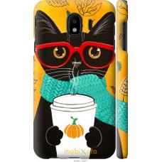 Чехол на Samsung Galaxy J4 2018 Осенний кот