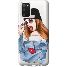Чехол на Samsung Galaxy A02s A025F Девушка v3