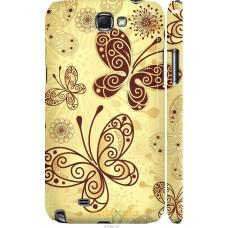 Чехол на Samsung Galaxy Note 2 N7100 Рисованные бабочки